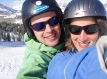 You will be reminded of the many compromises one must make in marriage when you spend the morning skiing on slopes well above your comfort zone while your husband spends that same morning skiing on slopes far beneath his.